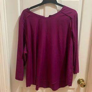 Investments blouse. 3x fuchsia